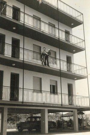 foto storica di villa viel in bianco e nero